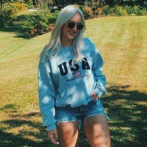 🇺🇸90's Style USA crew neck large America